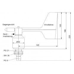WRG2/O Wind direction transmitter - compact