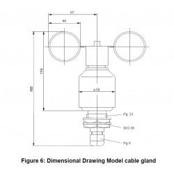 WG2/O Transmissor de velocidade do vento - compacto