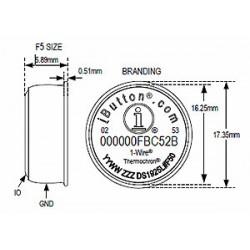 DS1925L Registrador de Temperatura iButton (-40°C a +85°C y memoria de 122KB)