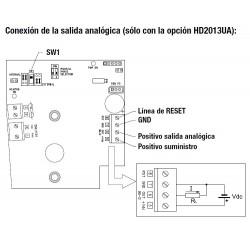 HD 2013UA Option of contact plus analog output for HD 2013 rain gauge