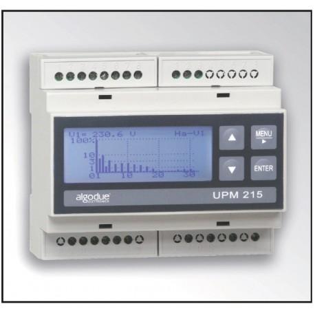 UPM215 Medidor de Potencia DIN Rail Conectable a Bobina Rogowski