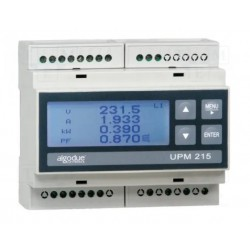 UPM215 DIN rail LCD power meter connectable Rogowski coil