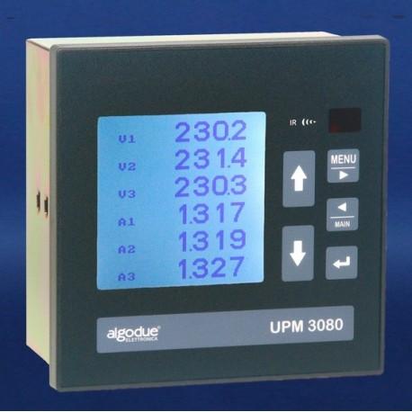 UPM3080 Analizador de Potencia con LCD DIN 144x144