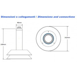LU06-A Hydrometric Sensor (water or snow level) by Ultrasound (range 0 ÷ 6m. Output: 0 ÷ 10Vdc)