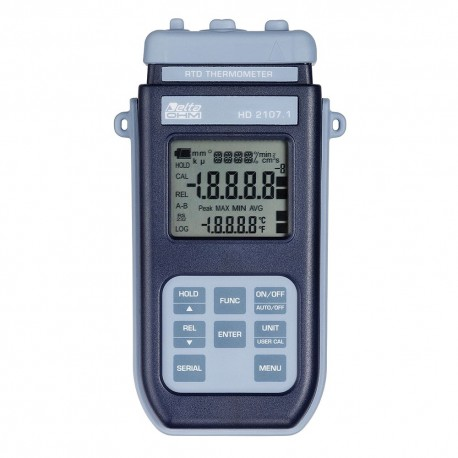 HD2107.1 Portable Thermometer Pt100 (-200ºC to +650ºC) without Data Logger