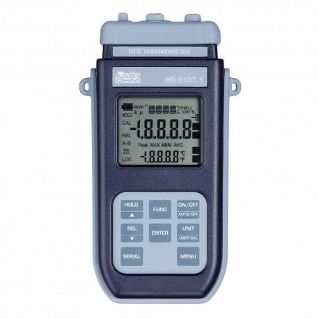 HD2107.1 Termómetro Portátil Pt100 (-200ºC a +650ºC) sem Data Logger