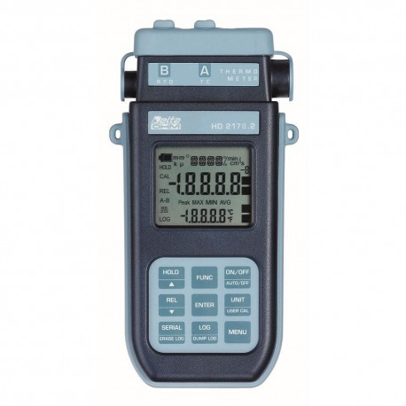 HD2178.2 Thermometer with Data Logger and two inputs (Pt100 and Thermocouple)