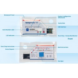 Tempmate.®-S1-V2 Disposable USB one-use Temperature Data Loggers