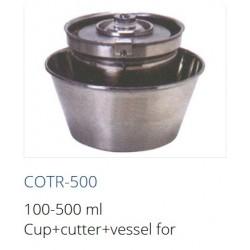 COTR-500  Vaso 100-500 ml + cortador + recipiente para homogeneizador