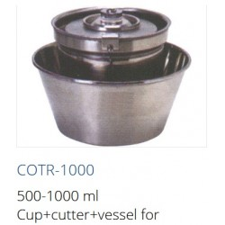 COTR-1000  Vaso 500-1000 ml + cortador + recipiente para homogeneizador