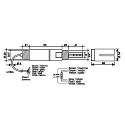SPTKI11 Sonda Industrial de Condutividade e Temperatura combinada em Rytron