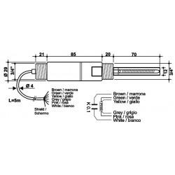 SPTKI12 Sonda combinada de Condutividade Industrial e Temperatura Pt100 de 4 fios