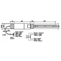 SPTKI13 Sonda combinada de conductividad y temperatura industrial  con 2 electrodos de Pt.