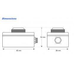 LUX-B Luxómetro 0 ÷ 200klux con salida 4-20mA
