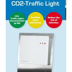 FS4085 Multisensor para CO2, Humedad y Temperatura con pantalla de semáforo para sobremesa
