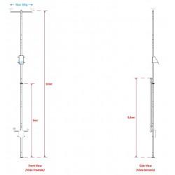 PALB10ABC Mastil de 10m Plegable para Estacion Meteorologica