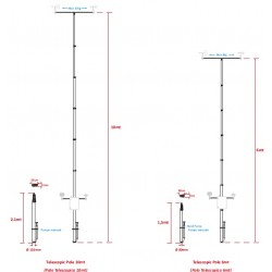 PALTA6 6m Pneumatic Telescopic Mast for Weather Station