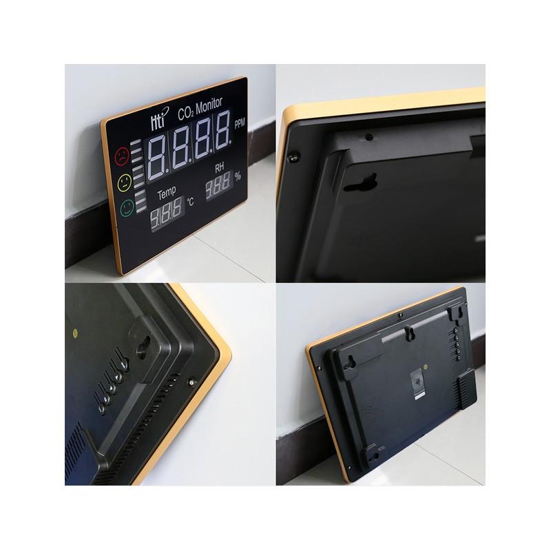 Seben HT-2008 medidor de CO2 sem/áforo Ambiente con Pantalla LED XL para la medici/ón del Aire Interior de di/óxido de Carbono Humedad y Temperatura