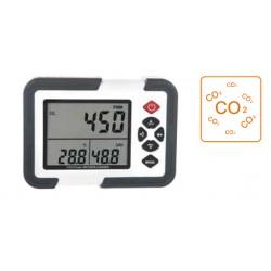 AO-HT-2000 Medidor de Temperatura, Humedad Relativa y CO2