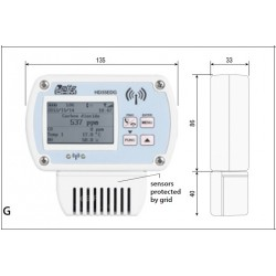 HD 35ED-14bNAB Temperature, Humidity, Atmospheric Pressure, CO and CO2 Wireless data logger