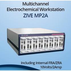 Potenciostato Multicanal + FRA 10uHz a 1 MHz / ZRA, (10V / 2A / 0.6fA) ZIVE MP2A