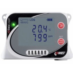 U3430 Data Logger with built-in temperature, humidity and CO2 sensors.