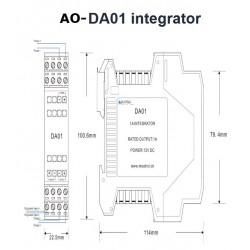 Integrador de bobina de saída Rogowski com saída DIN-RAIL 1A - AO-DA01-5