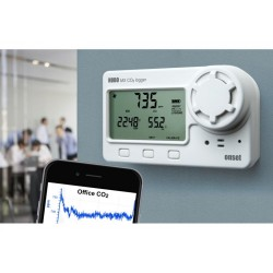CO2 Bluetooth Smart CO2/Temperature / Relative Humidity Logger for Interior Air Quality MX1102A