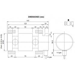 Eixos dinamométricos, capacidade de 5.000 kg a 20.000 kg