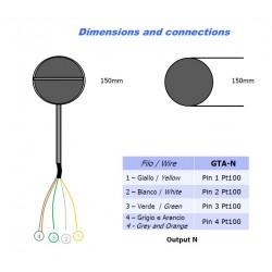 GTA-N Globethermometer -40 ÷ +60°C Nesa Srl