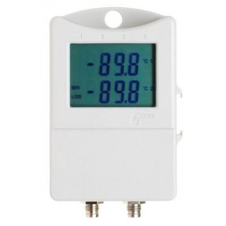 S0121 Termógrafo para 2 Sondas Externas con Display (-90°C a + 260°C)