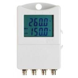 S0141 Termógrafo para 4 Sondas Externas con Display (-90°C a + 260°C)