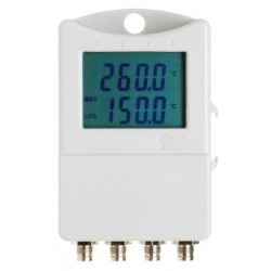 S0842 Thermometer 3 chann.+ 1 binary input with display (-90°C to + 260°C)