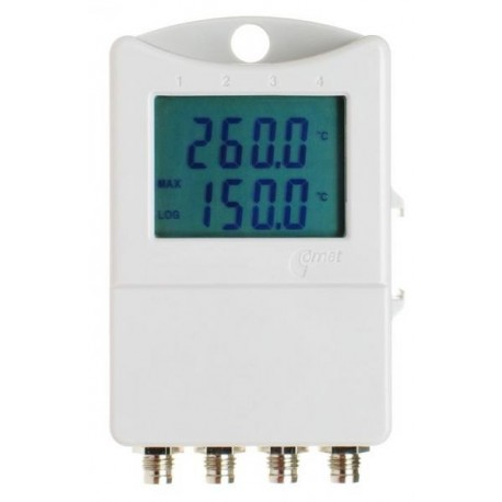 S0541 Termógrafo 2 Canales para Sensores Externos + 2 Entradas 0-5V con Display