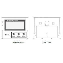 Registrador de temperatura, 2 canales externos (LAN inalámbrica, Bluetooth) TR-71wb