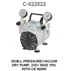 Bomba seca de presión / vacío, 230V 50Hz 1Ph Wob-L