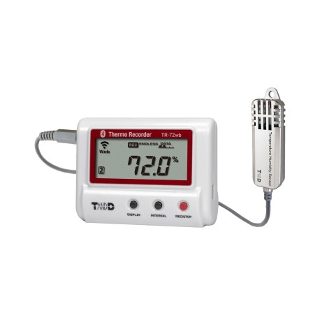 TR-72wb-S High Precision Temperature and Humidity Recorder with Wireless LAN, Bluetooth and USB Connection