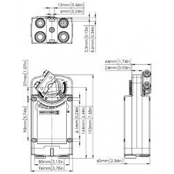 Spring Return Actuator, Ref.: 361C-024-10-S2