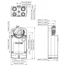 Rotary actuator, Ref.: 363-024-30