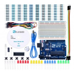 ELEGOO Basic Starter Set Compatible with Arduino IDE with Tutorial Guides in Spanish for UNO R3 Starter Kit