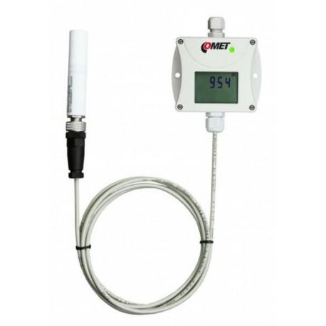 Transmisor de concentración de CO2 (con salida de 4-20 mA), sonda de dióxido de carbono externa y cable de 1 m