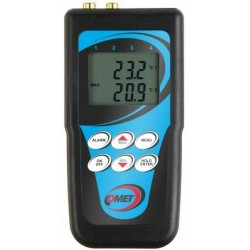 D0221 Dual channel thermometer (-200 to +500°C