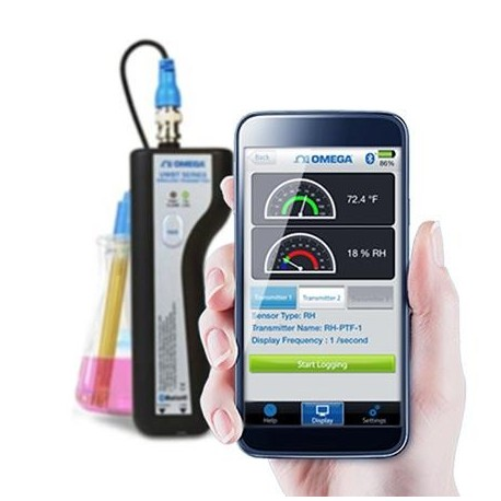 UWBT-PH-UK Data logger Bluetooth para Temperatura y pH