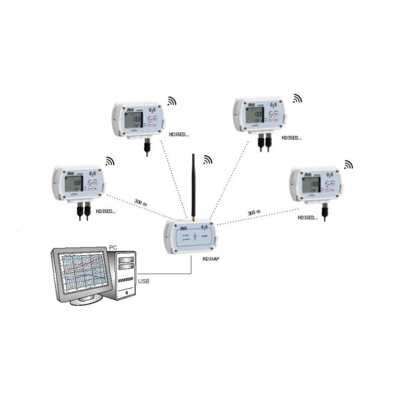 hd 35ed 7p  2 tc wireless data logger  -200 u00bac to   650 u00bac depends on sensor used