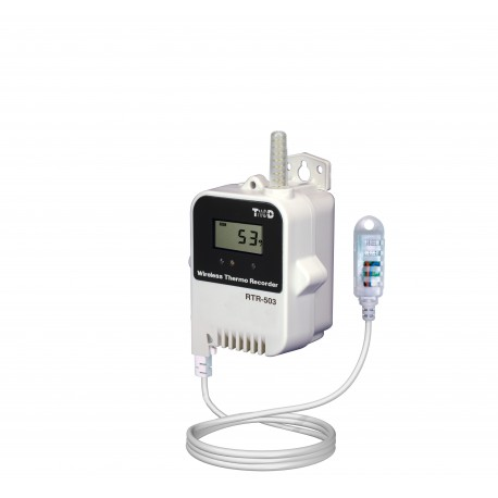 Data logger for temperature and relative humidity