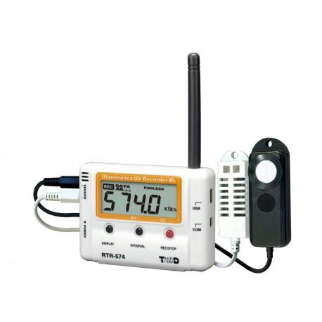 RTR-574  Registrador para iluminancia, Intensidad UV, Temperatura y Humedad