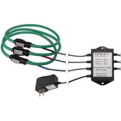 RCS-1800 Three-Phase RopeCT® Rogowski Coil Ac Transducer with .333 mV o/p