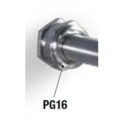 PG16 steel cable gland for Ø 14mm probes