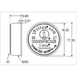 DS1921G Data Logger Económico Thermochron iButton (-40 a +85ºC y 2K)