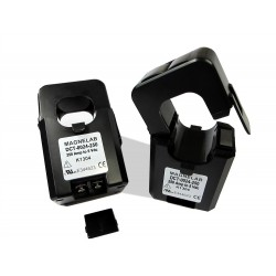SCT-075R split-core current sensors transform an AC input current up to 250 Amps to a 0.333 Volt outpu